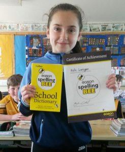 Aoife Lanigan Spelling Bee 2018
