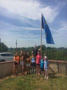Walter Walsh Raising the Active Blue Flag 2018