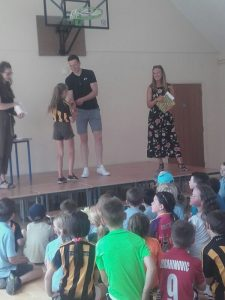 Walter Walsh presenting medals to our GAA finalists