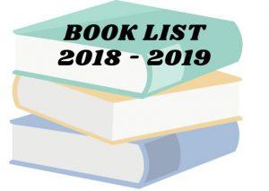 BOOK LIST'S 2018-2019