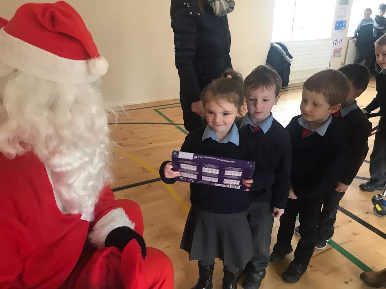 Santa Visits the school 2019